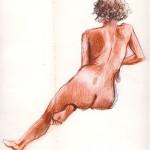 Pastel, aquarelle, pentel, duo de nus : ateliers de modèle vivant