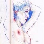 Les crayons pastels pour le dessin de nu