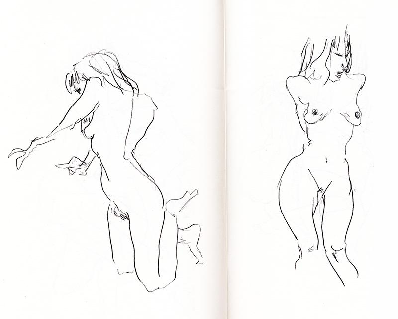 dessin d 'après modèle vivant, femme