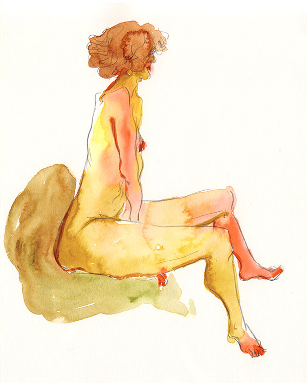 femme assise modèle 10 minutes