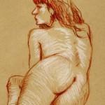Féminin de pastel nu