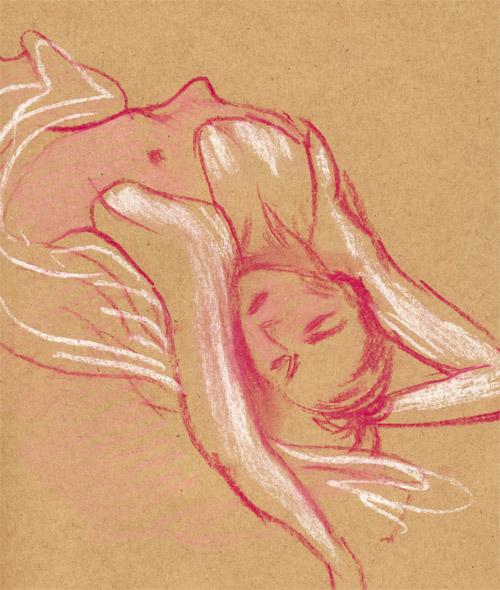 danseuse grande chaumière dessin pastel sec