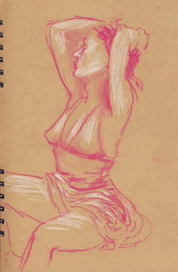 pastel rose femme danseuse modèle