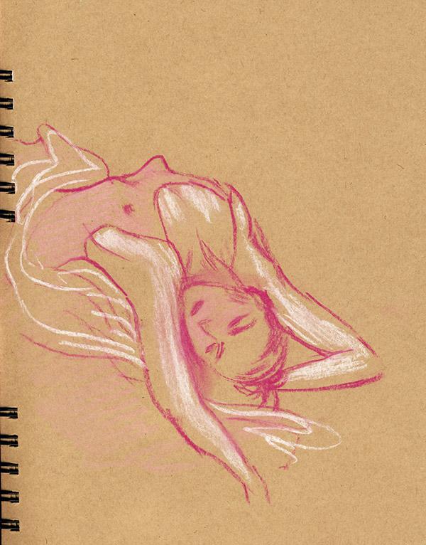 danseuse dessin pastel atelier grande chaumiere