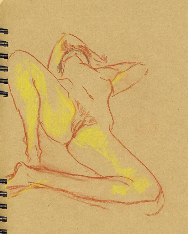 dessin de nu style origine du monde manet pastel femme