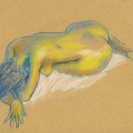 Atelier de nu le retour : crayons de pastel sec