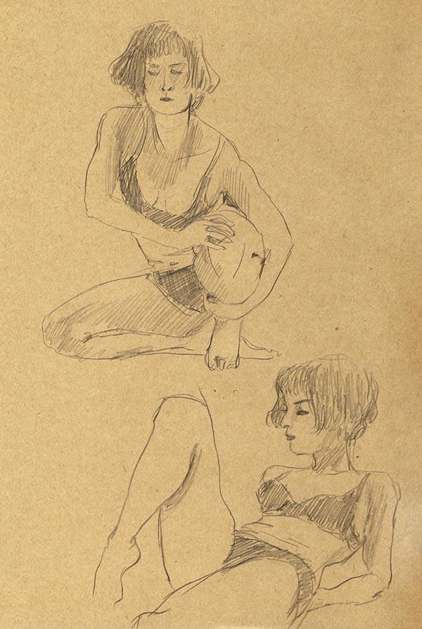 pose dessin de nu fémini cours de nu atelier  grande chaumière papier craft paris