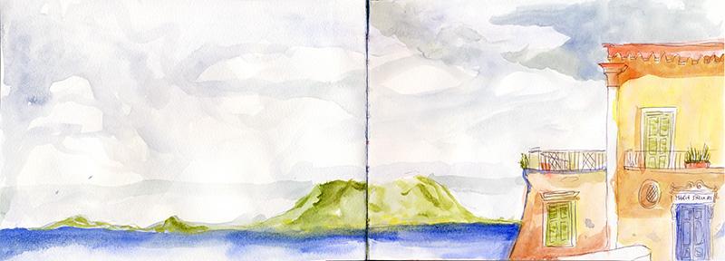 ischia plage vésuve
