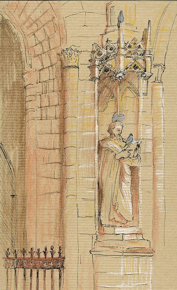 cathedrale orleans zandotti pastels détail